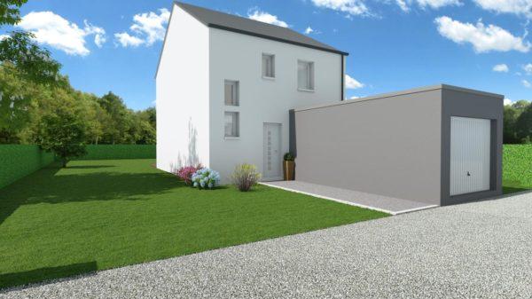 Modèle de Maison LARIMAR, 4 pièces de 93m² - Perspective Avant en Ardoise