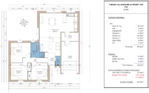 Avant-Projet - Vue en Plan et Tableau des Surfaces