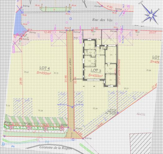 Maison 100m² + Terrain 450m² à la Bernerie-en-Retz - Implantation Projet 9ter sur la Parcelle