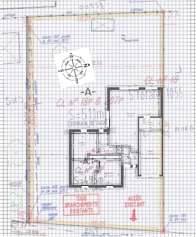 Maison 85m² + Terrain 511m² à Haute-Goulaine - Implantation sur la Parcelle