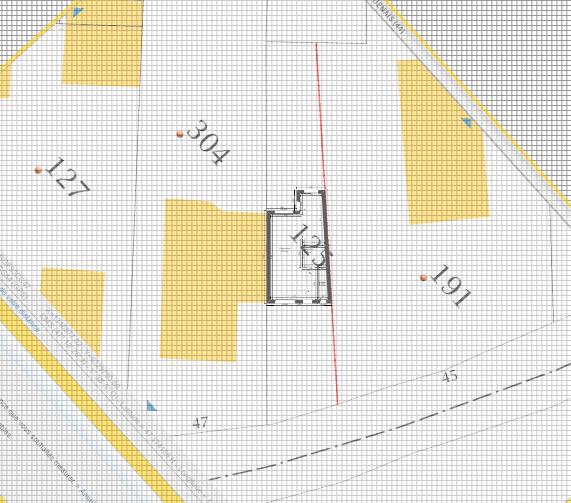 Maison 91m² + Terrain 227m² à Bouguenais - Implantation sur la Parcelle