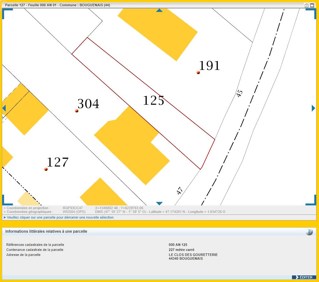 Maison 91m² + Terrain 227m² à Bouguenais - Parcelle AN 125
