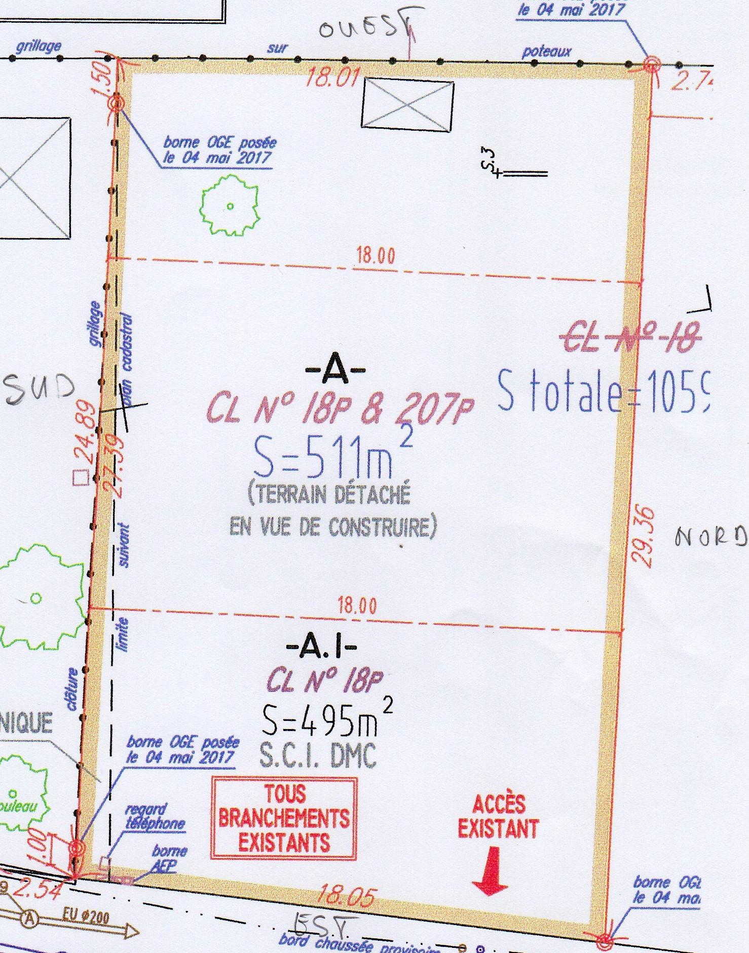 Maison 85m² + Terrain 511m² à Haute-Goulaine - Parcelle