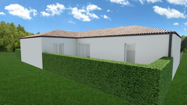Maison 108m² + Terrain 400m² à Basse-Goulaine - Perspective Arrière