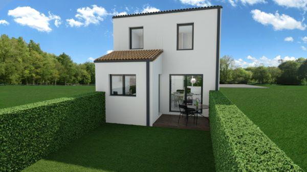 Maison 91m² + Terrain 227m² à Bouguenais - Perspective Arrière