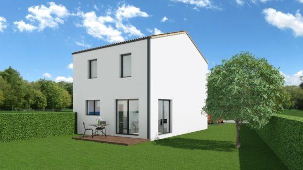 Maison 90m² + Terrain 462m² à Thouaré-sur-Loire - Perspective Arrière