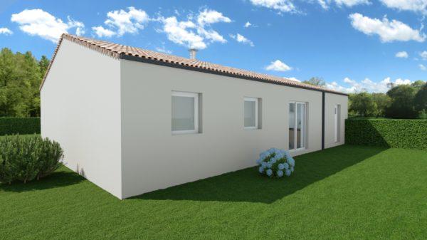 Maison 78m² + Terrain 495m² à Bouguenais - Perspective Arrière