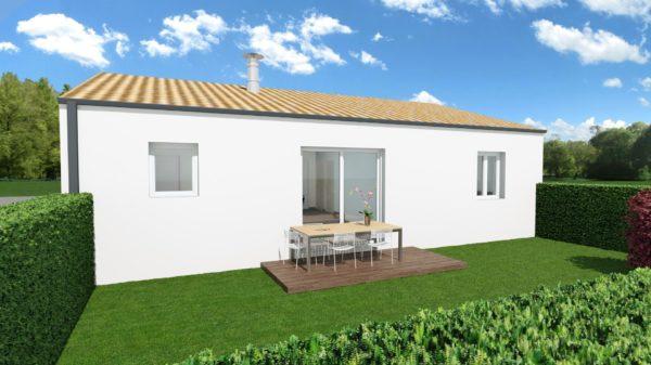 Maison 63m² + Terrain 230m² à Gorges - Perspective Arrière