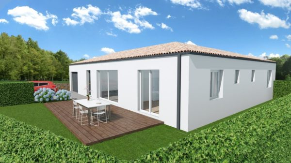 Maison 108m² + Terrain 400m² à Basse-Goulaine - Perspective Avant 1