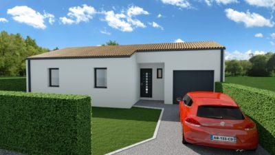 Maison 85m² + Terrain 511m² à Haute-Goulaine - Perspective Avant