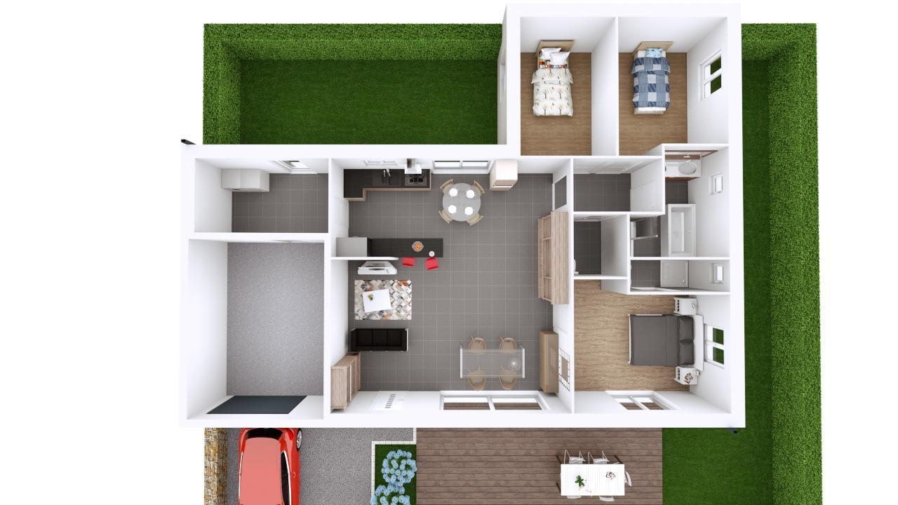 Maison 108m² + Terrain 400m² à Basse-Goulaine - Proposition d'Aménagement du RdC