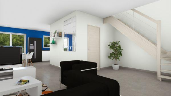 Maison 90m² + Terrain 462m² à Thouaré-sur-Loire - Perspective Intérieure du Séjour