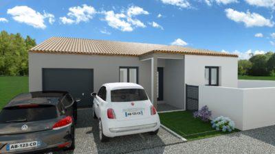 Maison 100m² + Terrain 450m² à la Bernerie-en-Retz - Perspective Avant