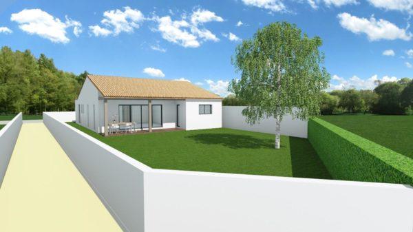 Maison 100m² + Terrain 450m² à la Bernerie-en-Retz - Perspective Arrière
