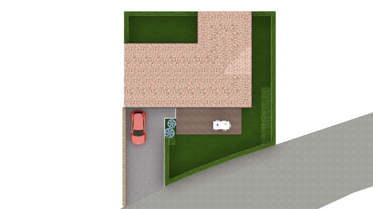 Maison 108m² + Terrain 400m² à Basse-Goulaine - Implantation sur la Parcelle