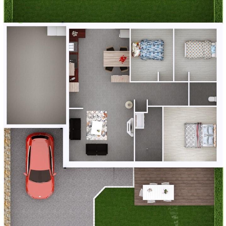 Maison 78m² + Terrain 495m² à Bouguenais - Proposition d'Aménagement