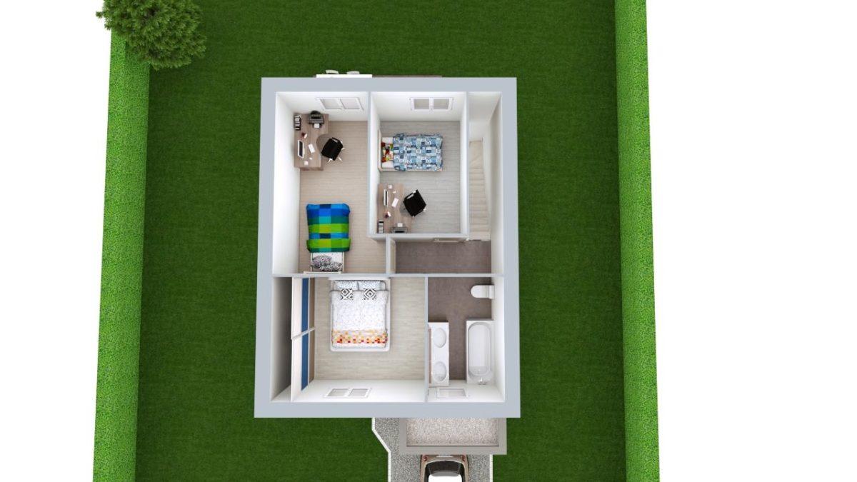 Modèle de Maison BÉRYL, 4 pièces de 77m² - Proposition d'Aménagement du R+1