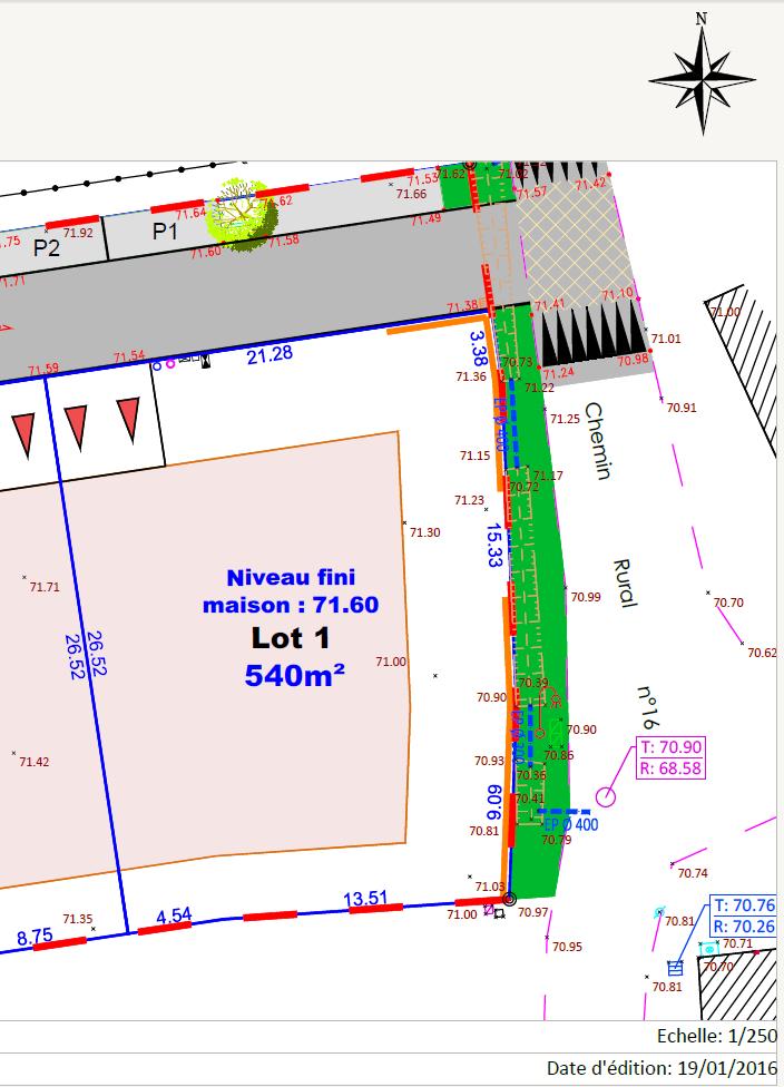 Maison 78m² + Terrain 540m² au Landreau - Parcelle, Lot 1