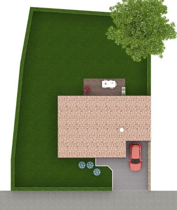 Maison 78m² + Terrain 540m² au Landreau - Implantation sur la Parcelle