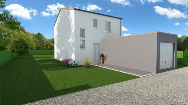 Modèle de Maison LARIMAR, 4 pièces de 93m² - Perspective Avant en Tuile