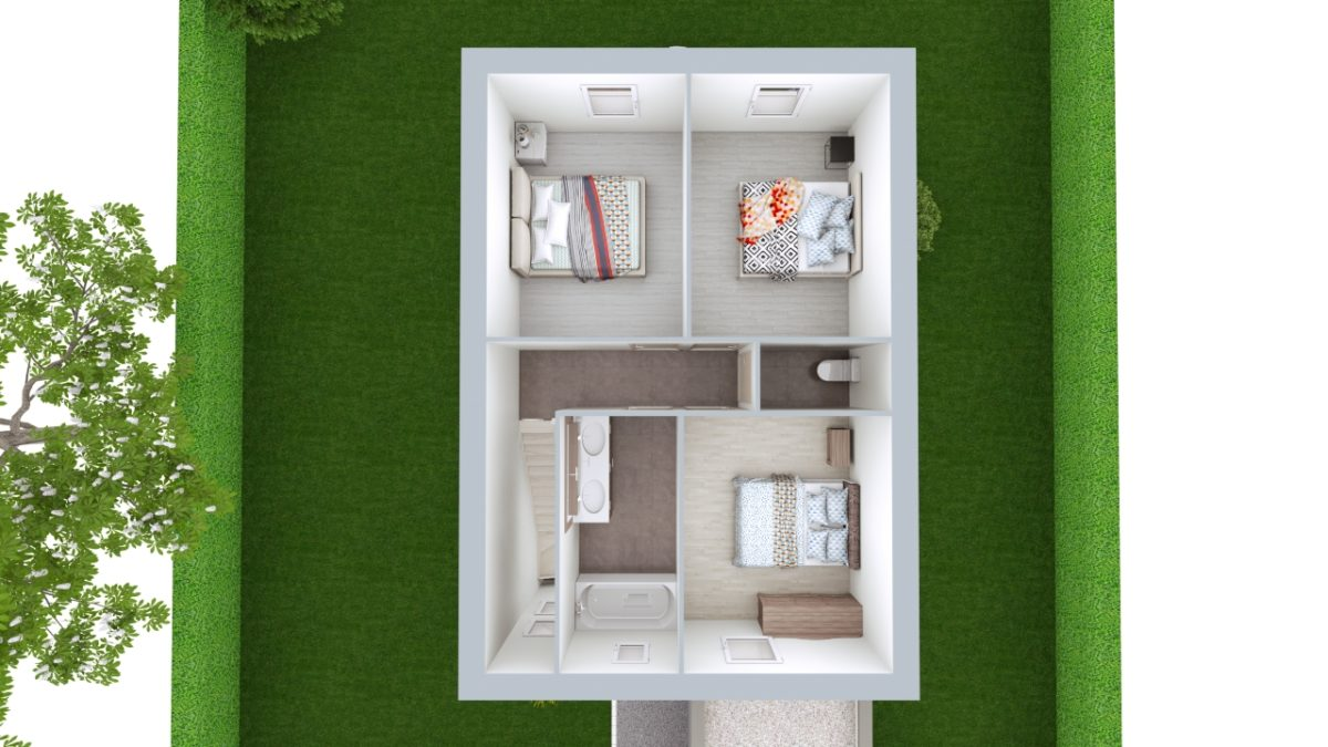 Modèle de Maison LARIMAR, 4 pièces de 93m² - Proposition d'Aménagement du R+1