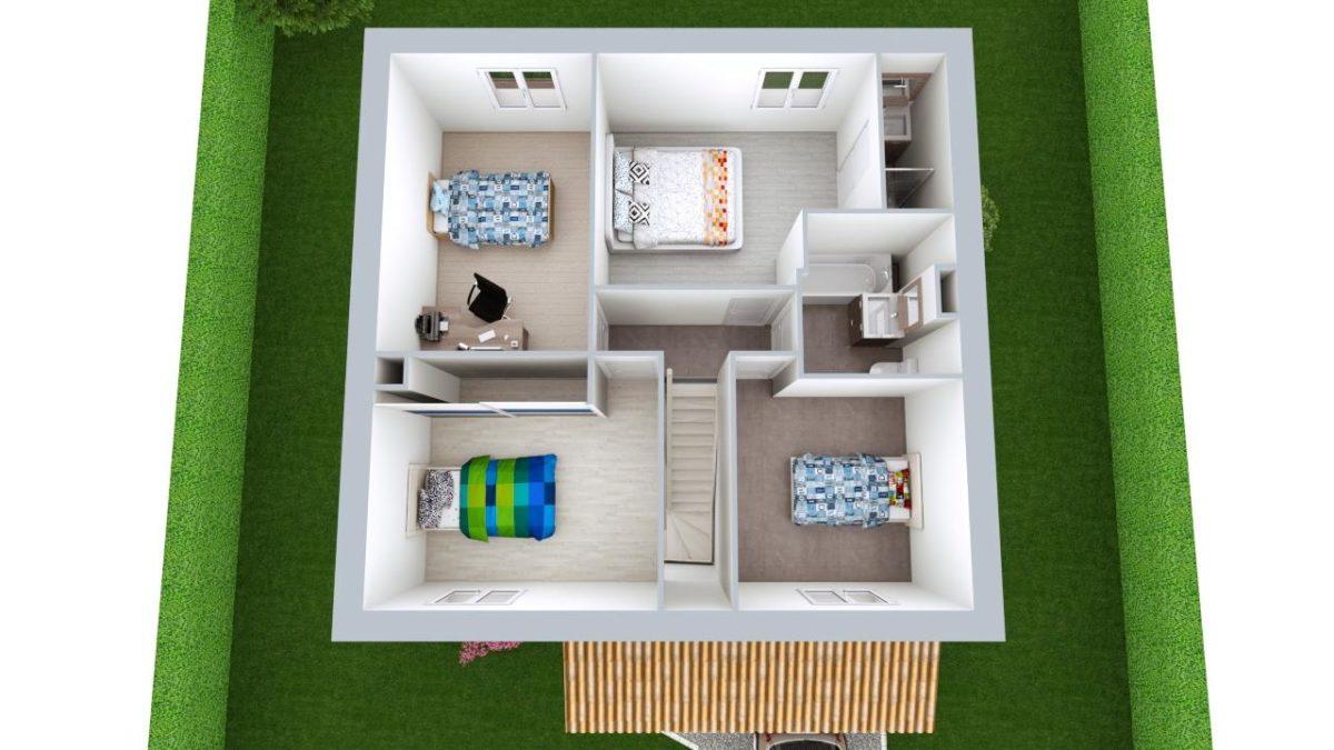 Modèle de Maison ONYX, 5 pièces de 100m² - Proposition d'Aménagement du R+1