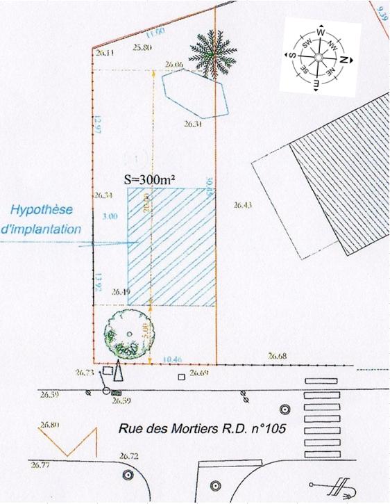 Maison 93m² + Terrain 300m² à Vertou - Parcelle et Orientation
