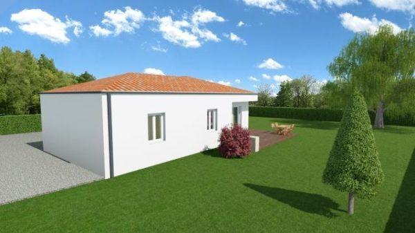 Maison 100m² + Terrain 1.088m² à Vertou - Perspective Arrière 1