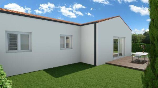 Maison 92m² + Terrain 350m² à La Chapelle-Basse-Mer - Perspective Arrière