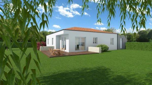 Maison 100m² + Terrain 1.088m² à Vertou - Perspective Arrière 2
