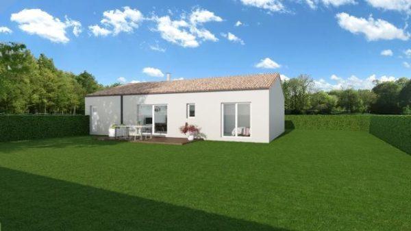 Maison 78m² + Terrain 540m² au Landreau - Perspective Arrière