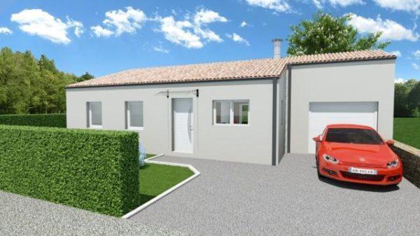 Maison 78m² + Terrain 540m² au Landreau - Perspective Avant