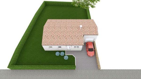 Maison 78m² + Terrain 540m² au Landreau - Perspective d'Ensemble
