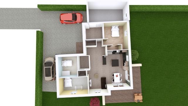 Maison 100m² + Terrain 1.088m² à Vertou - Proposition d'Aménagement