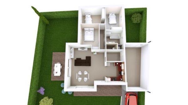 Maison 92m² + Terrain 350m² à La Chapelle-Basse-Mer - Proposition d'Aménagement du RdC