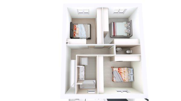Maison 93m² + Terrain 300m² à Vertou - Proposition d'Aménagement du R+1