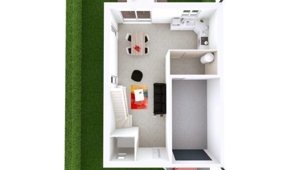 Maison 93m² + Terrain 300m² à Vertou - Proposition d'Aménagement du RdC