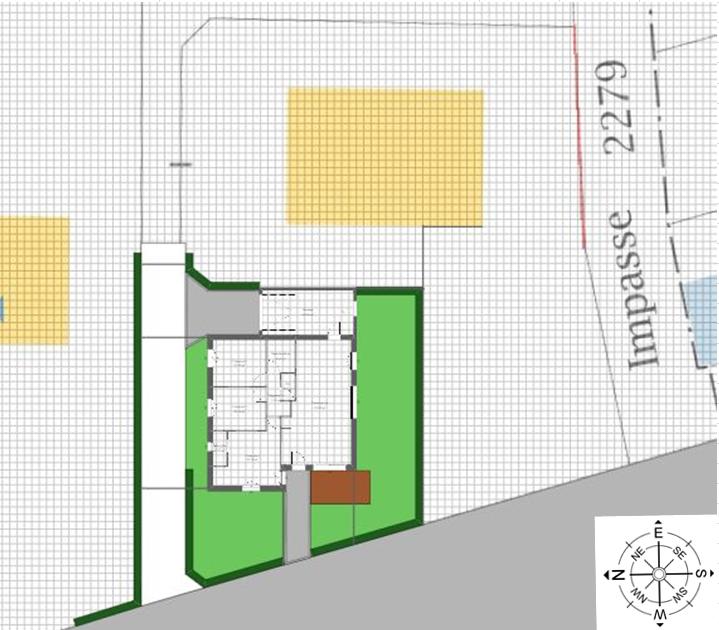 Maison 83m² + Terrain 369m² à La Roche-Blanche - Implantation sur la Parcelle