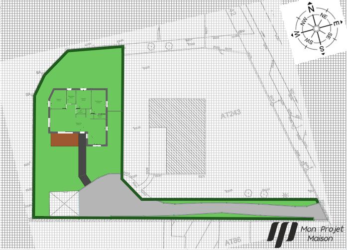 Maison 99m² + Terrain 757m² à Sainte-Luce-sur-Loire - Implantation-sur-la-Parcelle-avec-EV-et-Orientation