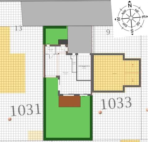 Maison 95m² + Terrain 230m² à La Chapelle-Heulin - Implantation sur la Parcelle