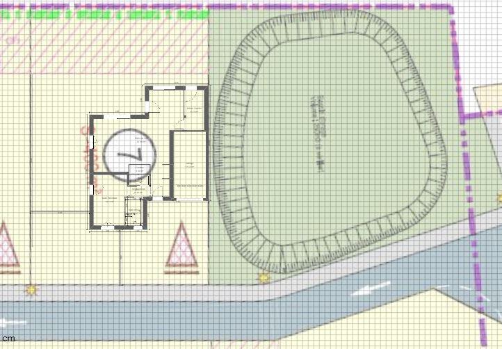 Maison 114m² + Terrain 400m² à La Chapelle-Heulin - Implantation sur la Parcelle