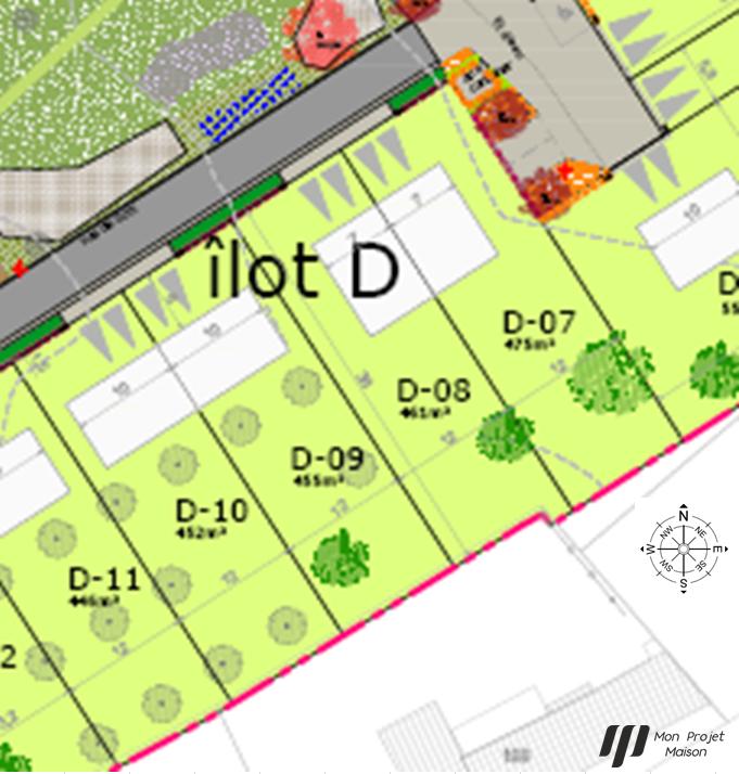 Maison 95m² + Terrain 461m² au Landreau - Parcelle D-08