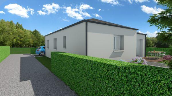 Maison 83m² + Terrain 369m² à La Roche-Blanche - Perspective sur Accès
