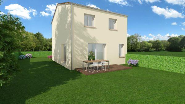Maison 95m² + Terrain 461m² au Landreau - Perspective Arrière