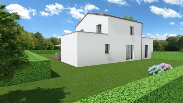 Maison 132m² + Terrain 560m² à Basse-Goulaine - Perspective Arrière