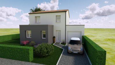 Maison 114m² + Terrain 400m² à La Chapelle-Heulin - Perspective Avant