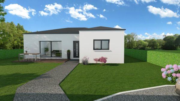 Maison 99m² + Terrain 757m² à Sainte-Luce-sur-Loire - Perspective Avant