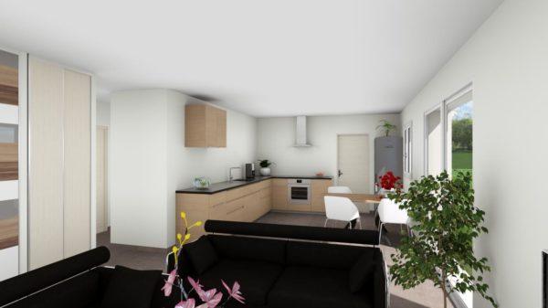 Maison 83m² + Terrain 369m² à La Roche-Blanche - Perspective Intérieure du Séjour