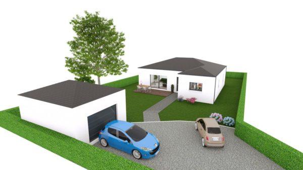 Maison 99m² + Terrain 757m² à Sainte-Luce-sur-Loire - Perspective d'Ensemble