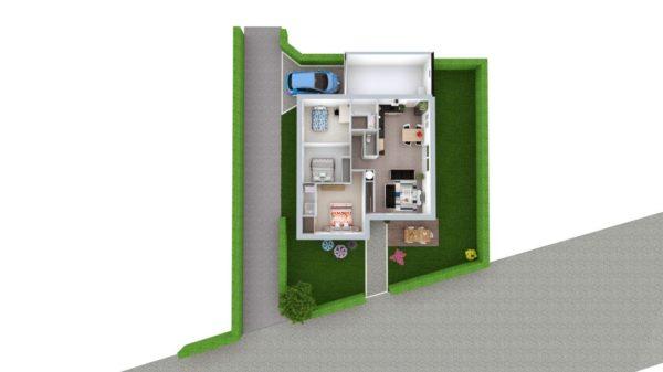 Maison 83m² + Terrain 369m² à La Roche-Blanche - Proposition d'Aménagement